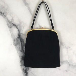 COBLENTZ vintage black suede evening bag